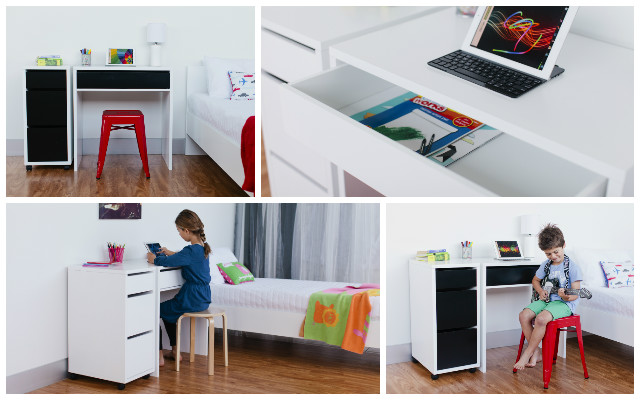 Study and store with Mocka Jordi Desk and Drawers