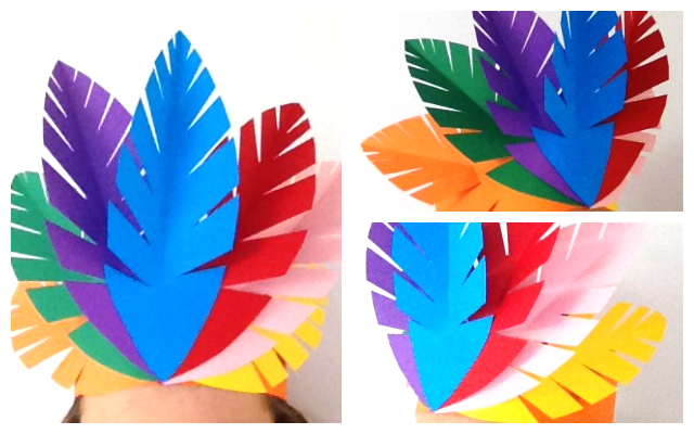 Mocka colourful Indian feather headpiece