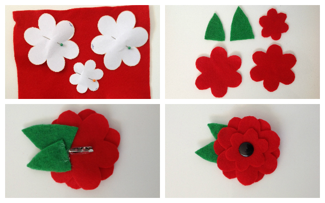 Mocka Anzac Day Poppy Brooch