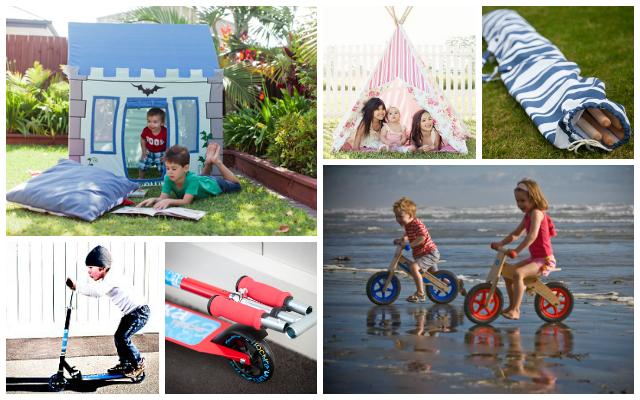 Outdoor play ideas from Mocka NZ